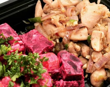 Lemongrass Chicken with Beets Salad