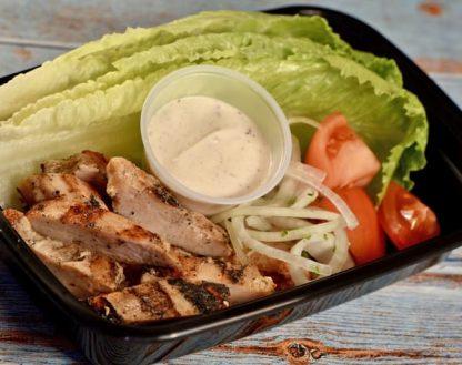 Lettuce Grilled Chicken Shawarma
