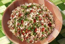 Chicken Kelaguen with Quinoa.