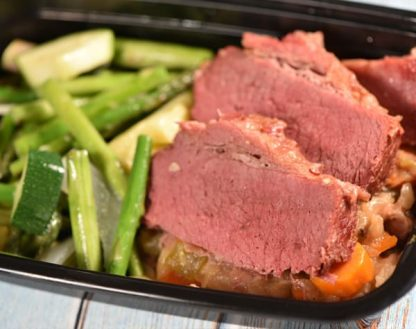 Corned Beef & Cabbage with Seasonal Veggies